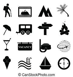 Volný a rekreační ikon