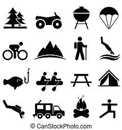 Volný a rekreační ikony