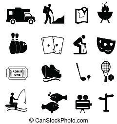 Volný a zábavný ikon