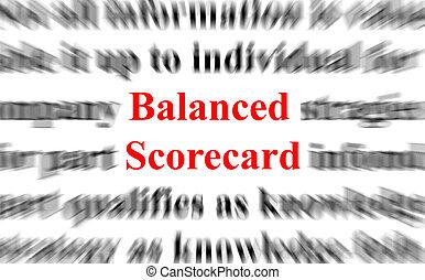 vyvážený, scorecard