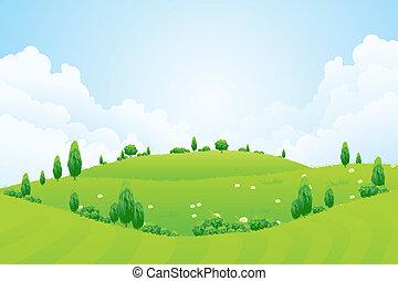 vyvýšenina, květiny, grafické pozadí, pastvina, kopyto, nezkušený