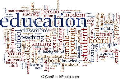 Vzdělání slovní mrak