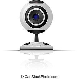 webcam, běloba grafické pozadí