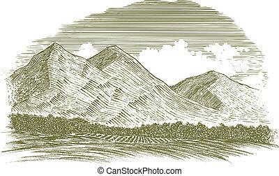 Woodcutská horská scéna