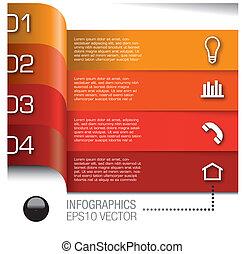 základy, dát, vektor, infographics