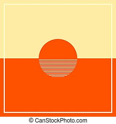 západ slunce, moře