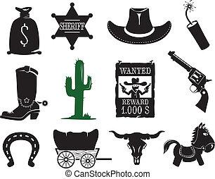Západní ikony nastaveny