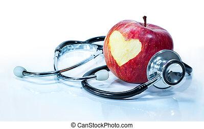 Závěr lásky k zdraví - jablko