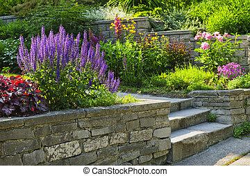 Zahrada s kamennou krajinou