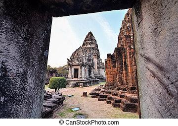 zaujatý, troska, thajsko, asie, fotografie, překrásný, phimai, thai