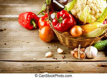 Zdravá organická zelenina. Bio jídlo