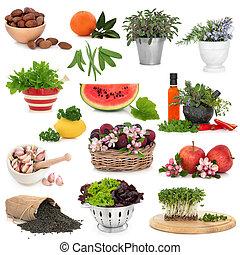 Zdravá sbírka jídla