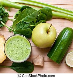 Zdravá zelená detoxová šťáva