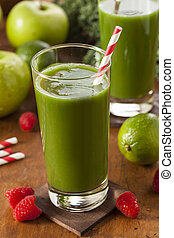 Zdravá zelenina a ovocný džus