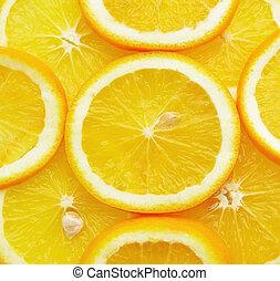 Zdravé jídlo, pozadí. Pomeranče
