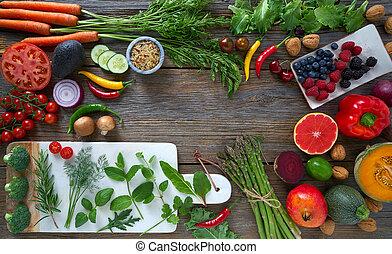 Zdravé jídlo se žízní na délce