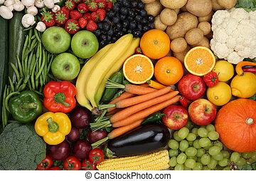 Zdravé jídlo, zelenina a zelenina