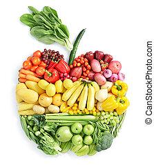 zdravý food, apple: