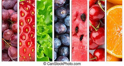 zdravý food, grafické pozadí