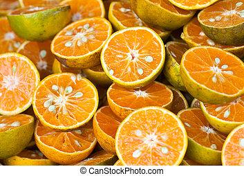 zdravý, grafické pozadí., strava, pomeranč