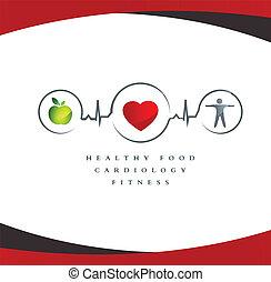 Zdravý srdeční symbol