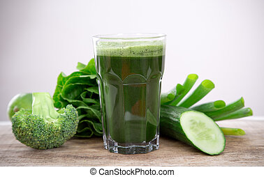Zdravý zelený džus
