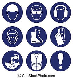 Zdravotní a bezpečnostní ikony