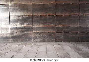 Zeď a chodník