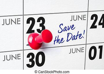 Zední kalendář s červeným kuželem - 23