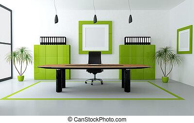 Zelená moderní kancelář