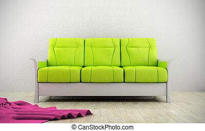 Zelená moderní pohovka