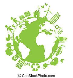 Zelené čisté prostředí
