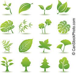 Zelené ikony nastaveny