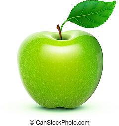 Zelené jablko