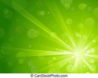 Zelené světlo se třpytí