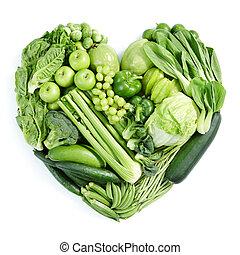 Zelené zdravé jídlo