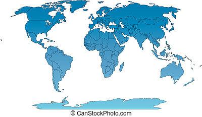 země, robinson, mapa, společnost