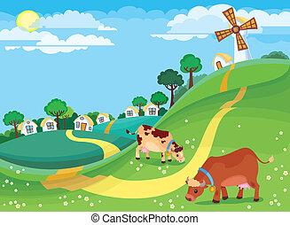 zemědělský krajina