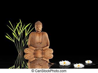 zen, buddha, utišit