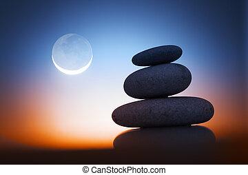 Zen Stone v noci