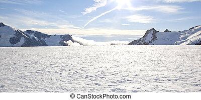 Zima krajina panorama