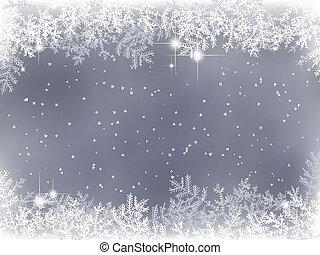 Zimní pozadí s výzdobou Vánoc
