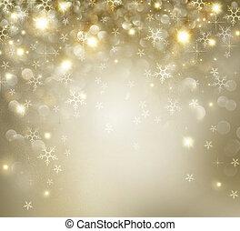 Zlatá vánoční svátek s blikajícími hvězdami