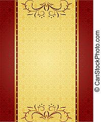 Zlaté pozadí pro design karet a pozvání