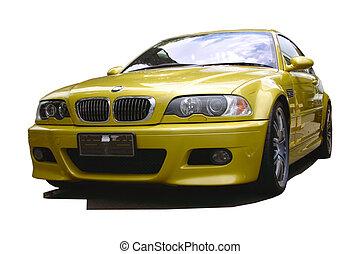 Zlaté sportovní auto