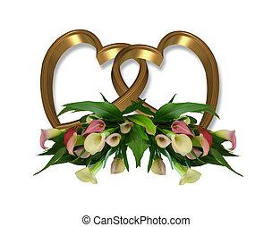 Zlaté srdce a lilie