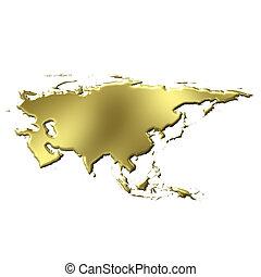zlatý, 3, asie, mapa