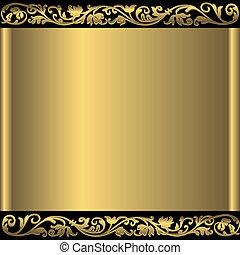 Zlatý abstraktní pozadí.
