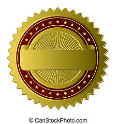 zlatý, charakterizovat, (vector)