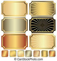 zlatý, konstrukce, vybírání, stříbřitý